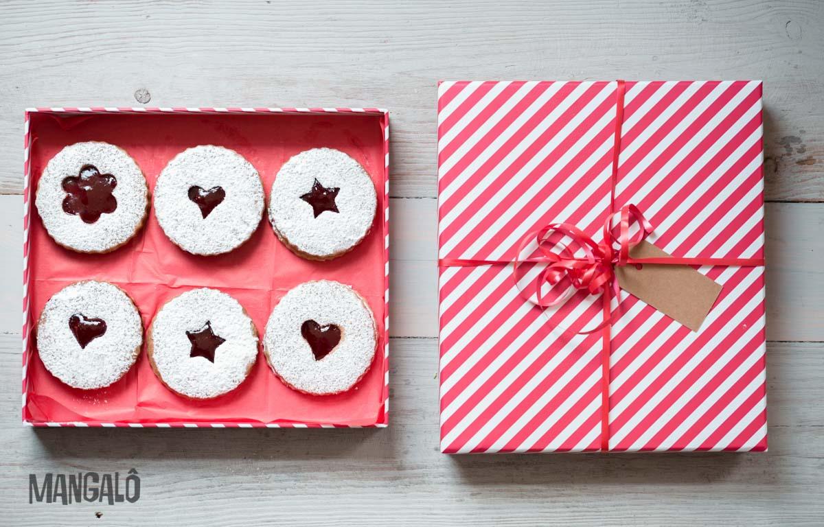 Biscoitos Linzer de Natal - blog Mangalô