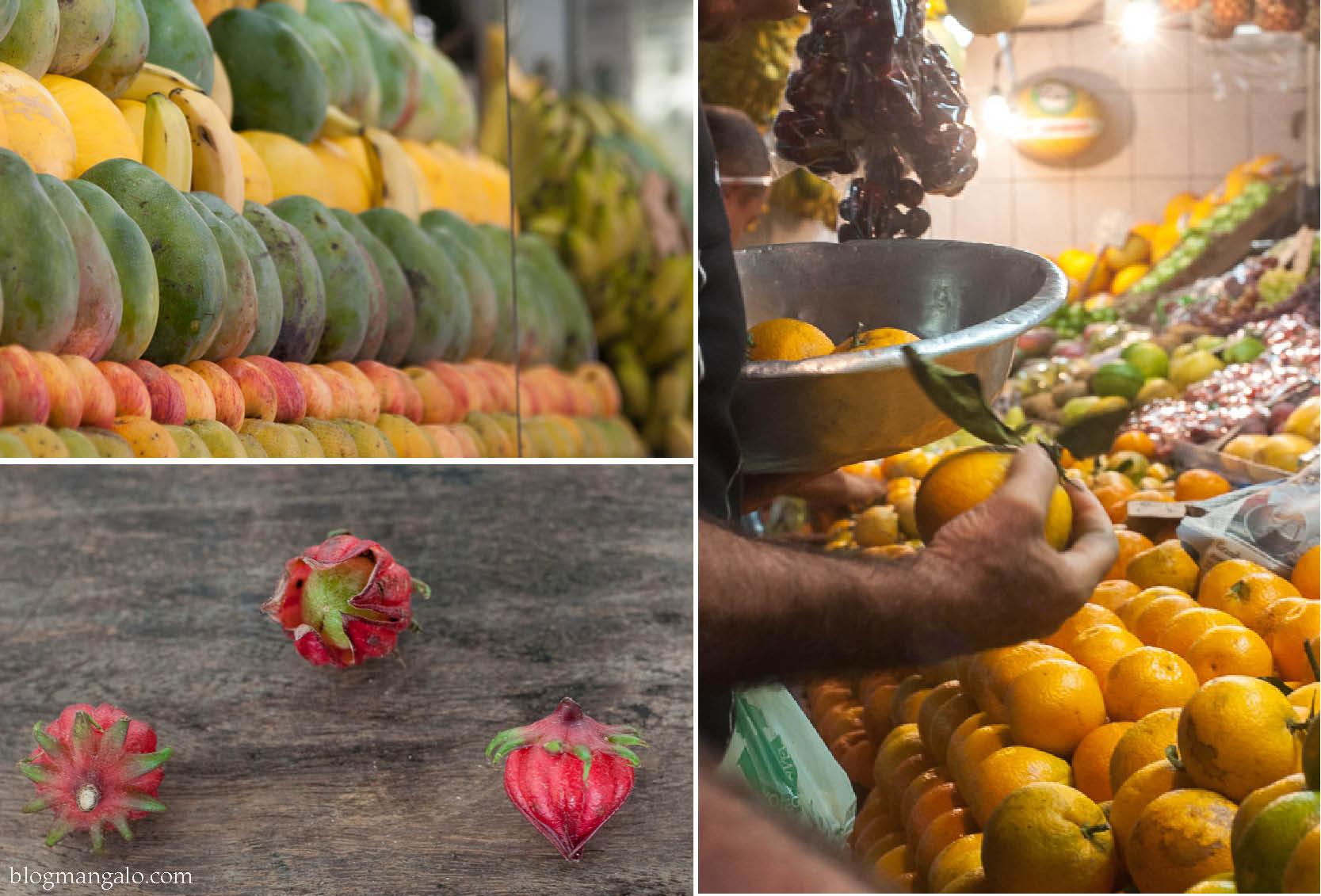 na rua, na feira e em casa: ingredientes frescos